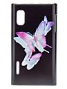 Lindas borboletas padrão rígido Case for LG E612 (Optimus L5)