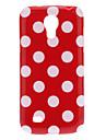 Belle couverture Polka Dot TPU Skin pour Samsung Galaxy S4 Mini I9190