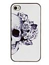 Череп с розой оформлен Ear PC Pattern Футляр с черной рамкой для iPhone 4/4S