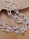 Trendy 19cm Women's Silver Copper Bracelets