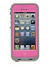 2-em-1 hermetico impermeavel rosa capa de corpo inteiro de protecao com pano de limpeza para iPhone 5/5S