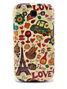TPU brillant Tour Eiffel et Pain pour le Samsung Galaxy S3 I9300