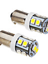 2 Pcs BA9S 1W 10x3528SMD 70-90LM 6000K Cool White Light LED Bulb (12V)