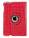 360 graden draaibare crocoprint patroon case voor de iPad mini 3, ipad mini 2, ipad mini (verschillende kleuren)