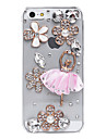 Ballet Skirt Flowers Pattern Metal Jewelry Back Case for iPhone 5/5S