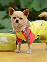 Собаки Дождевик Красный Желтый Синий Одежда для собак Лето Весна/осень Однотонный Водонепроницаемый