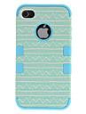 2-в-1 свежий дизайн Кривая Pattern Жесткий чехол с силиконовой внутренней обложке iPhone 4/4S