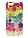 아이폰 5/5S를위한 다채로운 버튼 패턴 하드 케이스