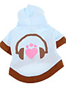 Dog Coat / Hoodie Blue Winter Cartoon