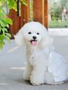 Собаки Платья Белый Одежда для собак Лето Свадьба