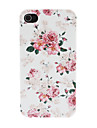 Deluxe Peony Pattern PC Hard Case for iPhone 4/4S
