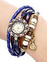 Женские Часы-браслет Повседневные часы Кварцевый Группа Винтаж Богемные Черный Белый Синий Красный Оранжевый Коричневый Зеленый Розовый