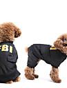 Dog Pants Black Spring/Fall Letter & Number