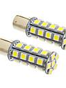 BAY15D / 1157 7W 30x5050smd 570lm 5500-6500K холодный белый свет светодиодные лампы для автомобиля (12v, 2pcs)