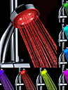 Water Powered cambia de color ABS LED ducha de la mano