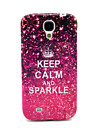 Keep Calm And Sparkle Glossy TPU Soft Case for Samsung Galaxy S4 I9500