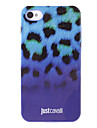 Stylish Leopard Print Pattern Purple Smooth Anti-shock Case for iPhone 4/4S