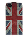 Union Jack Padrao PU Leather Bady Full Case para iPhone 4/4S