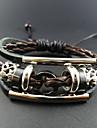 Assortiment de cuir de couleur de bracelet de cru 17cm hommes (couleurs assorties) (1 PC)