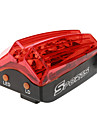 Rechargeable Highlight 4-Mode 10-LED Red Light Tail Warning Safety Light
