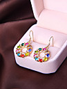 귀여운 패션 숙녀 기질 귀걸이의 한국어 버전 둥근 다이아몬드 귀걸이 최소한 E824