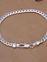 argento catena di rame dolce 20 centimetri delle donne e di collegamento del braccialetto (argento) (1 pc)