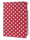 360 ° ympäri pyörivä pisteitä kuvio PU Full Body Case telineellä iPadille Air (Assorted Colors)