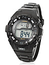 Mænds Multi-Functional runde Dial Rubber Band LCD Digital Wrist Watch (assorteret farve)