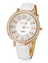 Diamante Rodada da Mulher Dial PU banda quartzo analógico relógio de pulso (cores sortidas)