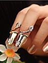 Maxi anel Cristal Prata Chapeada Chapeado Dourado imitacao de diamante Cobra Prata Dourado Joias Festa Diario Casual 1peca