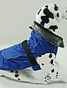 개 코트 레드 / 블루 / 블랙 강아지 의류 겨울 솔리드 방수 / 따뜻함 유지