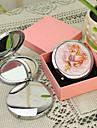Εξατομικευμένη δώρων Floral Style ροζ Chrome Compact Mirror