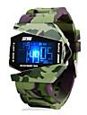 SKMEI® Men's Watch Camouflage Military Stealth Aircraft LED Multi-Function Cool Watch Unique Watch
