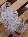 Sweet Women\'s Silver Plated Cuff Bracelet (1 Pc)