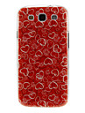 Rose Heart Pattern Plastic Protective Hard Back Case Cover for Samsung Galaxy S3 I9300