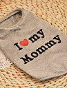 Cat / Dog Shirt / T-Shirt Gray Dog Clothes Summer / Spring/Fall Hearts Cute / Casual/Daily