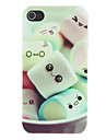 Ihana Cartoon Marshmallow Pattern Matte Suunniteltu PC Hard Case for iPhone 4/4S