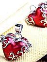 Pendentifs coeur en métal rouge Médaillon