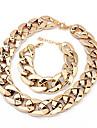 European Chain Bracelet & Necklace Plastic Jewelry Set