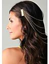 Мода кисточкой Ассорти Цвет волос сплава Комбс для женщин (золото, серебро) (1 шт)