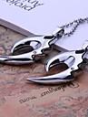 Joyeria personalizada Hombre de regalo collar Rhinestone Diseno Grabado del fuego con 60cm Cadena