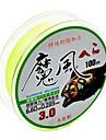 Коробка для лески / Рыбацкая леска Леска с полиэтиленовым плетением / Dyneema 100M / 110 ярдов Зеленый / Желтый25LB / 30LB / 50LB / 55LB