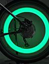自転車ライト、バイクのリムテープは、fjqxzエンジニアリングシリコーン緑のサイクリングは、光、安全スポーク