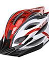 FJQXZ Unisex Outdoor PC + EPS 22 Vents vermelho + branco Ciclismo Hlemets