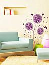 Αυτοκόλλητο τοίχου μοβ λουλούδι 1pcs