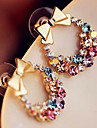 European Bowknot Multicolor Alloy With Rhinestone Stud Earrings(1 Pair)
