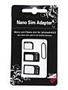 3 -에 - 하나의 아이폰 4/4S/5/5S/5C 및 다른 사람을위한 마이크로 및 표준 SIM 카드 어댑터 나노 심 (분류 된 색깔)