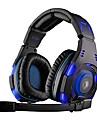 sades sa-907 hörlurar usb spel över örat med mikrofon och fjärrkontroll för PC