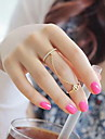 Ring Number Party / Daily / Casual Jewelry Alloy Women Midi Rings7 Gold / Silver