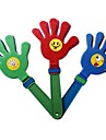 1PCS Smiling Face Hand Clapper Clap Noisemaker Cheerleading Concert World Cup Cheer Props(28x11.5x2cm,Random Color)